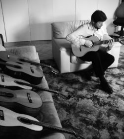 Trying out a few handmade classical guitars by South African luthiers