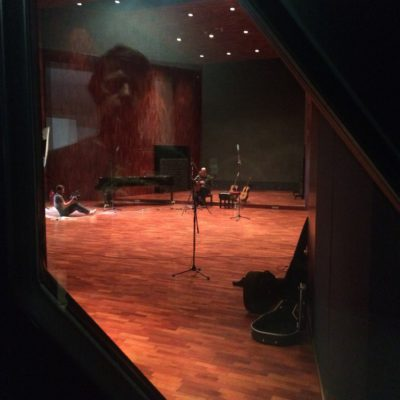 The huge recording room at BOP studios