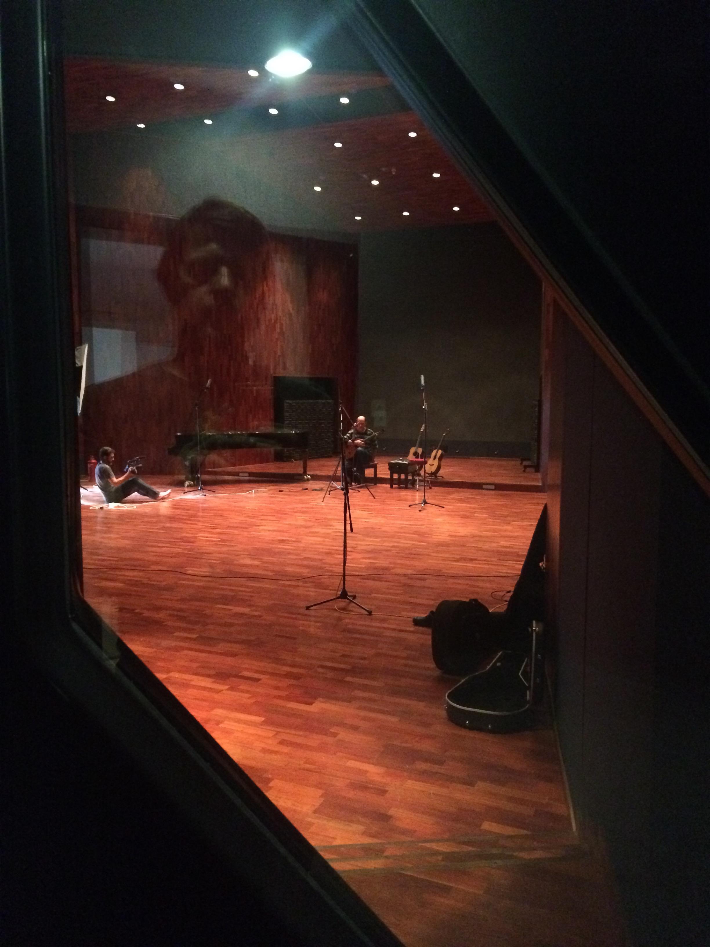 The huge recording room at BOP studios