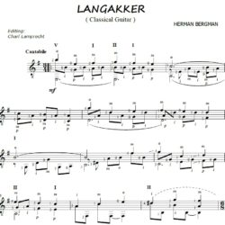 Langakker notation for Classical guitar
