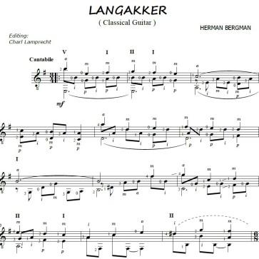 Langakker notation for Classical guitar