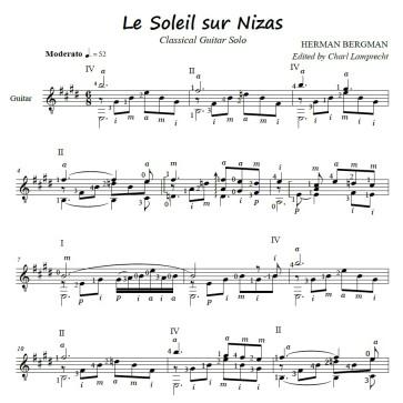 Le soleil sur Nizas – Notation