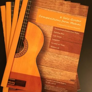 Notation book with 6 solo guitar compositions